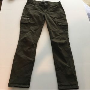 Express Jeans Army Green Straight Leg